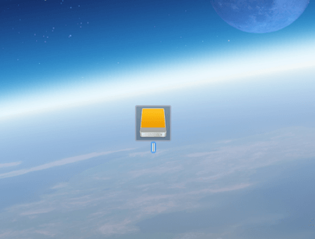 External Drive Icon On Desktop