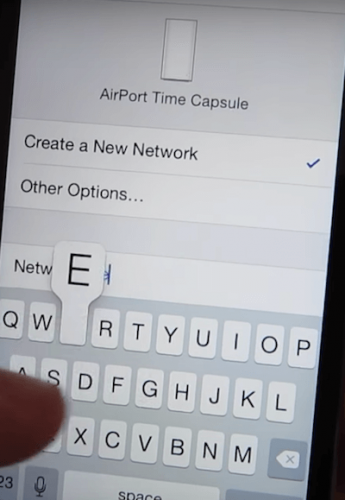 IOS Create a new Wifi Network, give it a name