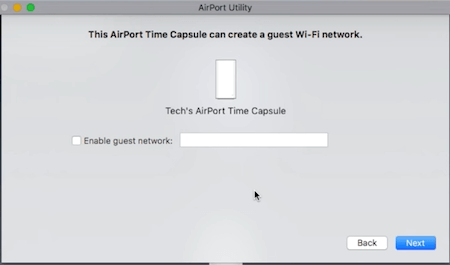 Time Capsule Guest Network