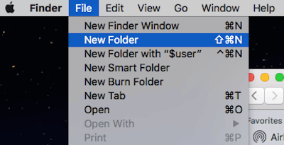 Finder Create New Folder