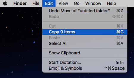 Finder Window Copy Files