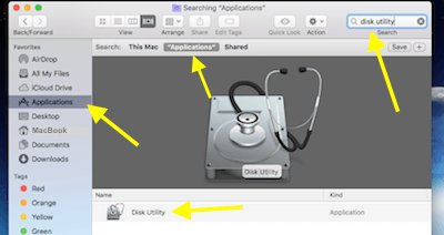 Finder Window Search For Disk Utility