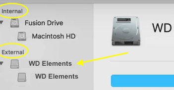 WD Elements Internal External drive list