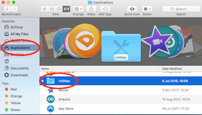 Finder Application Folder Utilities