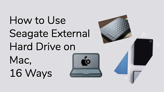 How To Use Seagate External Hard Drive On Mac Title Image