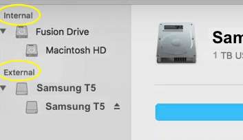 Samsung T5 Internal External Drives List