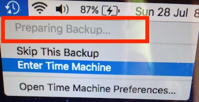 Seagate Time Machine Preparing Backup