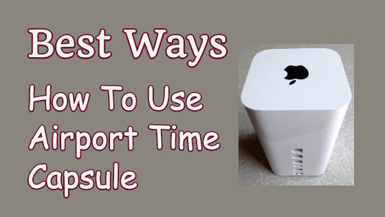 How To Use Airport Time Capsule Title Image