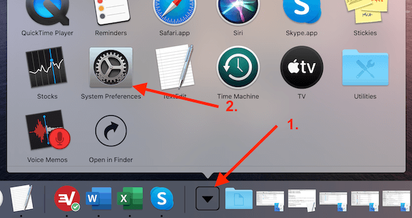 Application Folder System Preferences