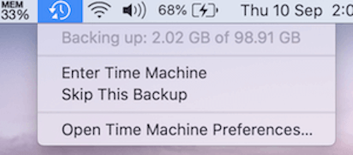 Samsung T7 Check Progress Of Time Machine Backup