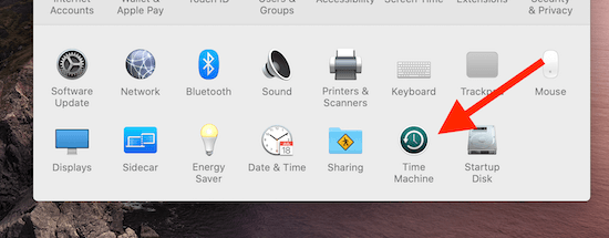 SanDisk Portable SSD Time Machine System Preferences