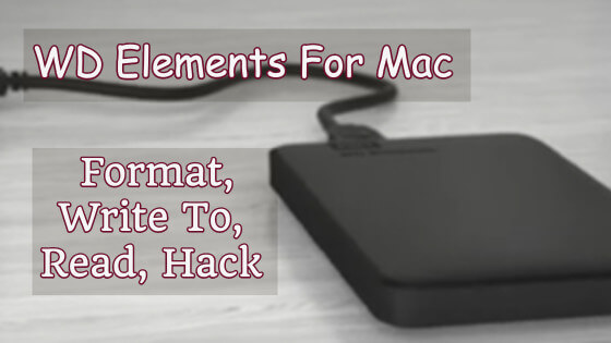 WD Elements For Mac Title Image