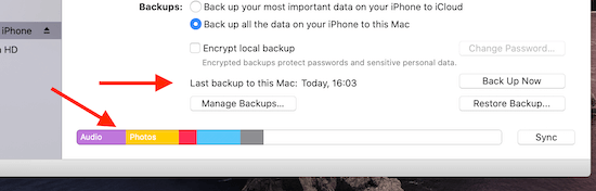 iPhone Backup To MacBook Complete