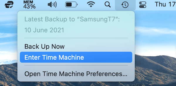 Could Enter Time Machine