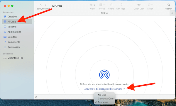 Set Up Airdrop For Sending Files Wirelessly