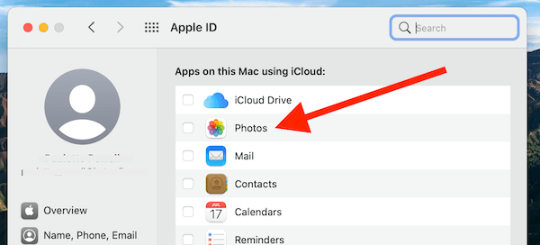 System Preferences Set Photos To iCloud