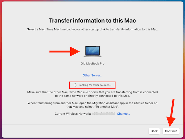Transfer Information To This Mac Click On Mac