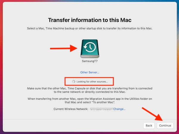 Transfer Information To This Mac Looking For Other Sources