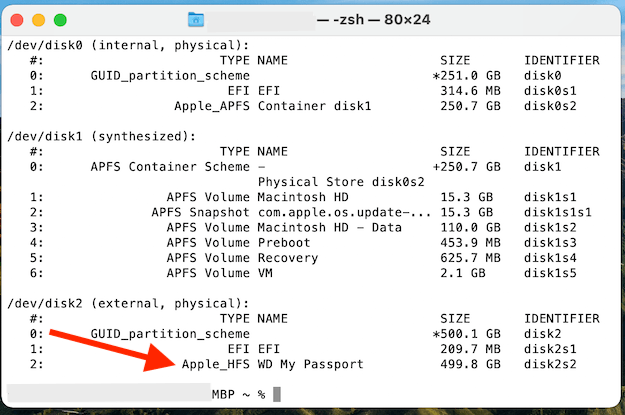 Find Your WD Drive In Terminal