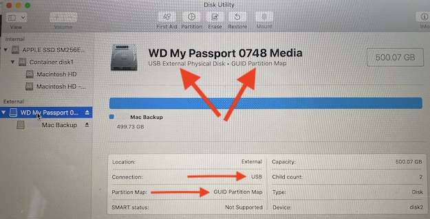 WD My Passport Disk Utility USB And GUID